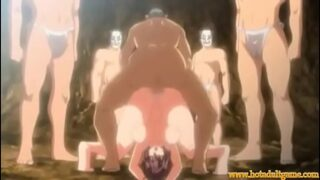 Hentai anime gangbang cumshots